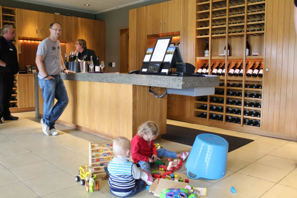Everyone's a winner when there's a toy box in the tasting room