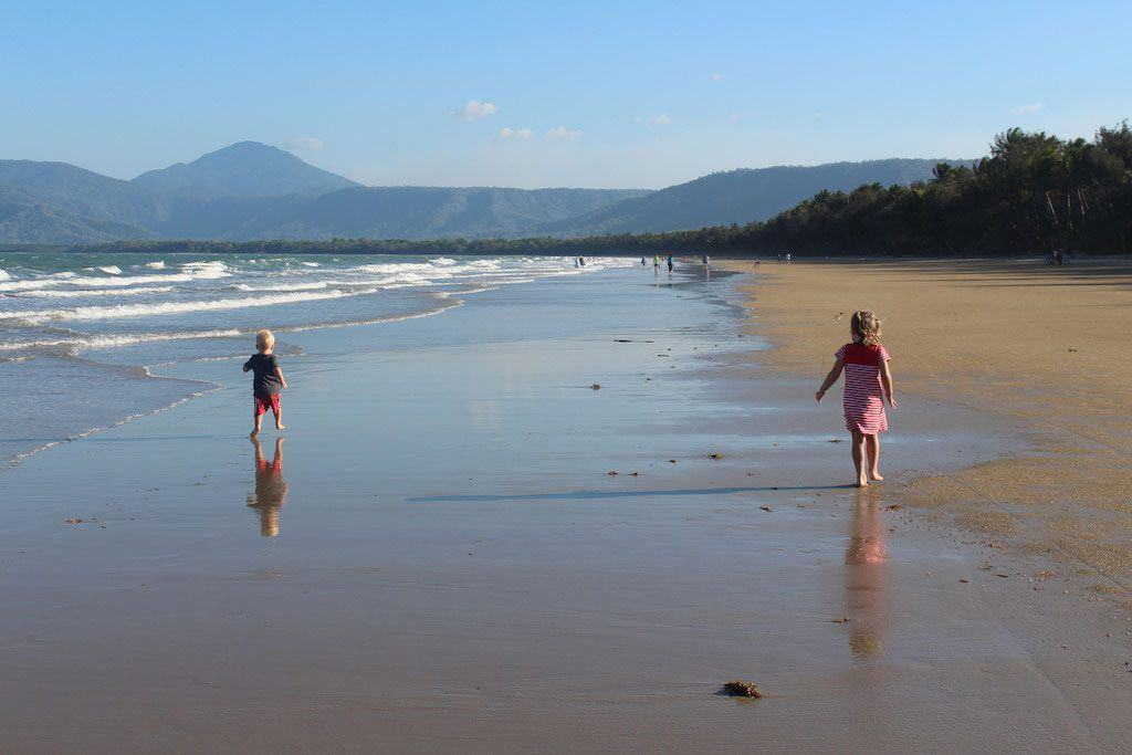 Four Mile Beach Port Douglas with kids