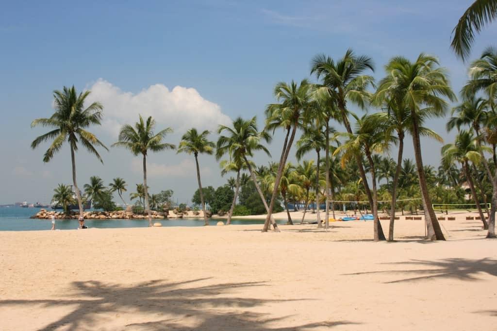 Siloso Beach Sentosa with kids