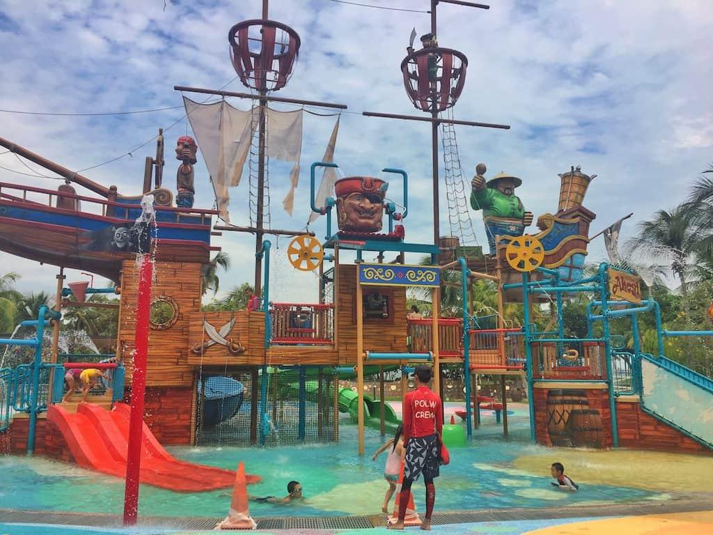 Palawan Pirate Ship Sentosa with Kids
