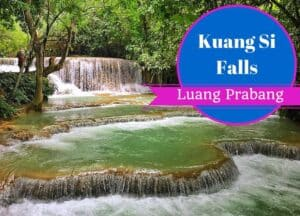 Visiting the Kuang Si Falls, Luang Prabang