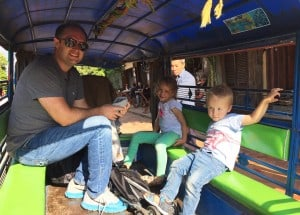 Tuk tuk ride to the Kuang Si Waterfall