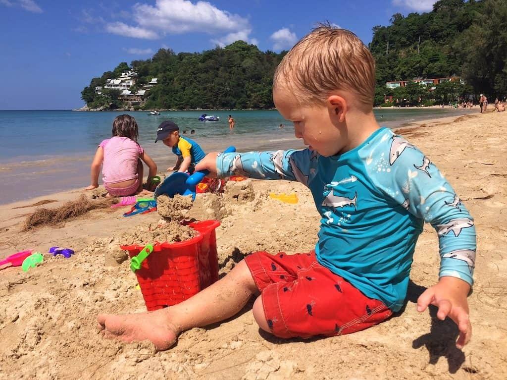 Kamala Beach Phuket with kids