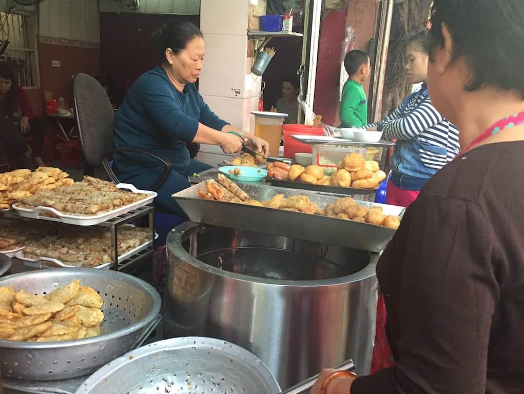 cooking street snacks hanoi