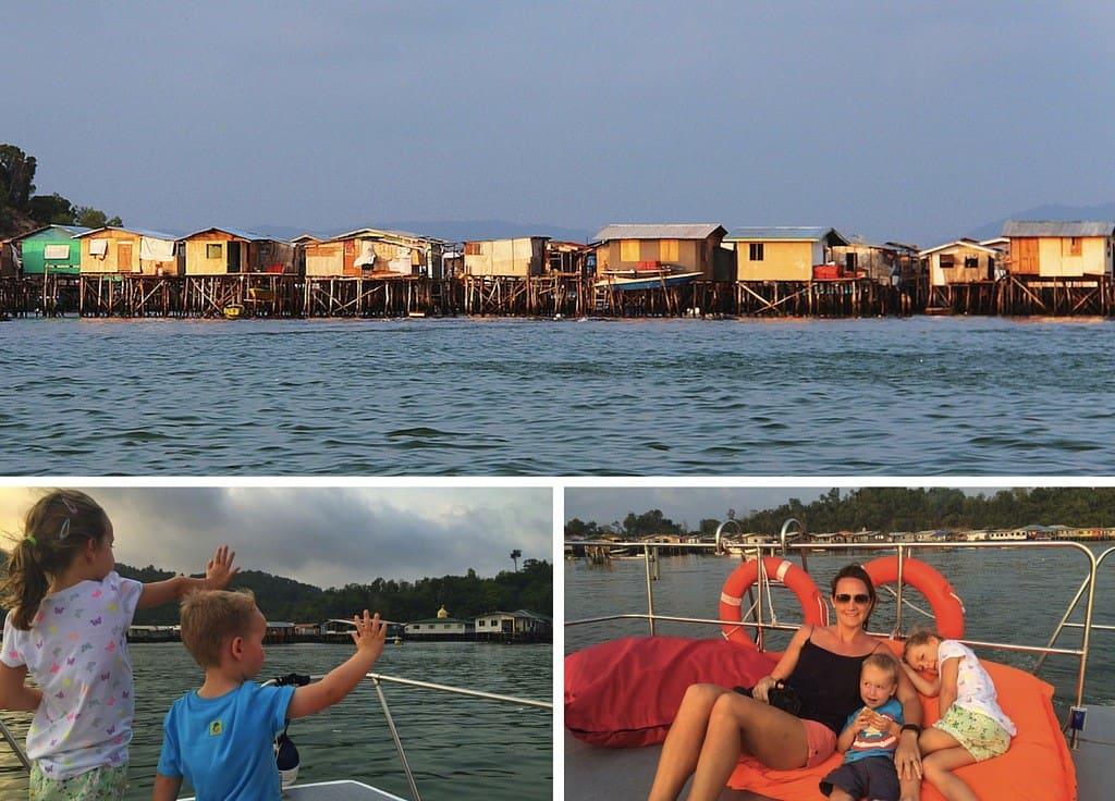 Gaya Island water villages
