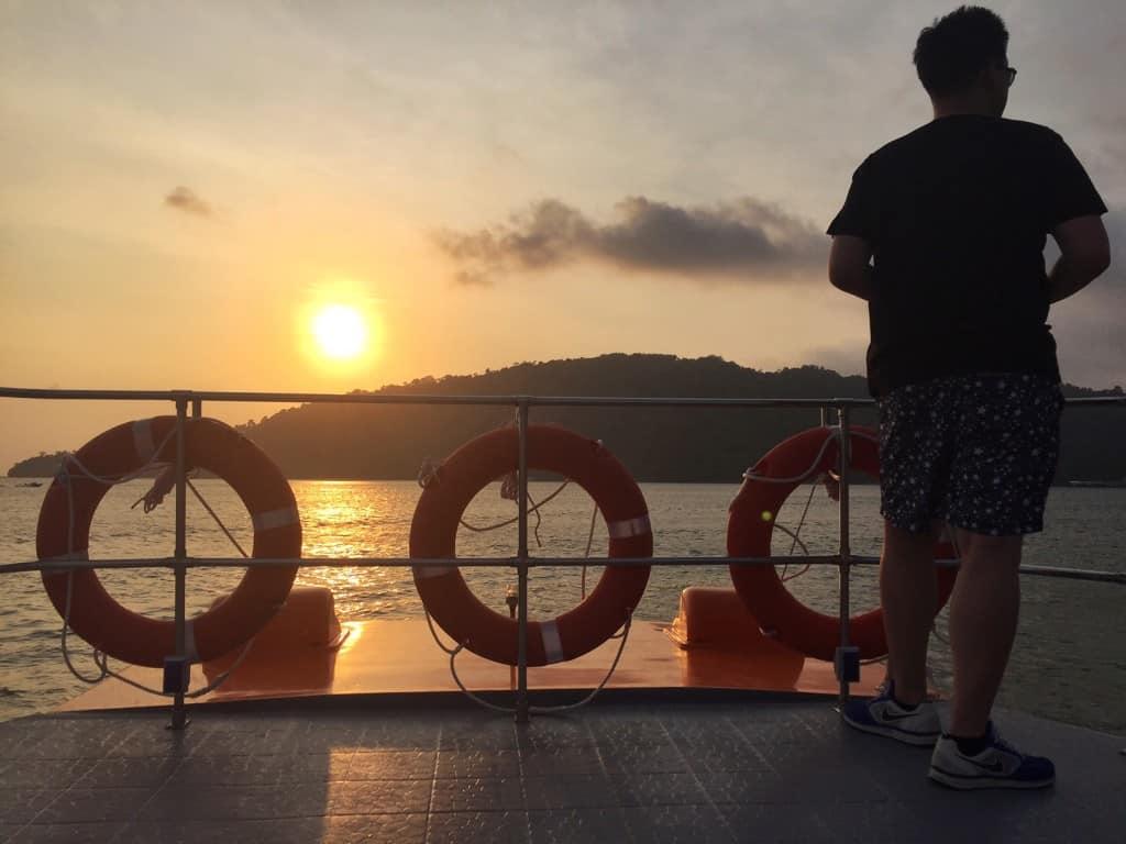 Sunset cruise Kota Kinabalu Borneo