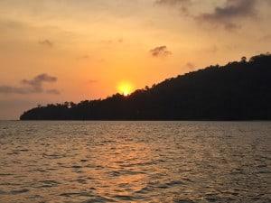 sunset over Gaya