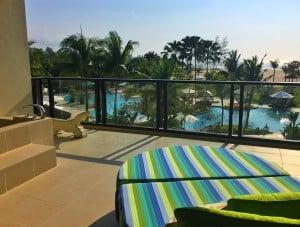 Shangri-La Rasa Ria balcony