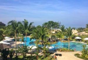 Shangri-La Rasa Ria ocean wing pool