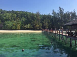 Manukan Island jetty