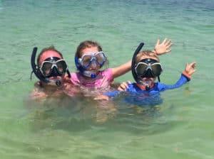 Snorkelling in Borneo