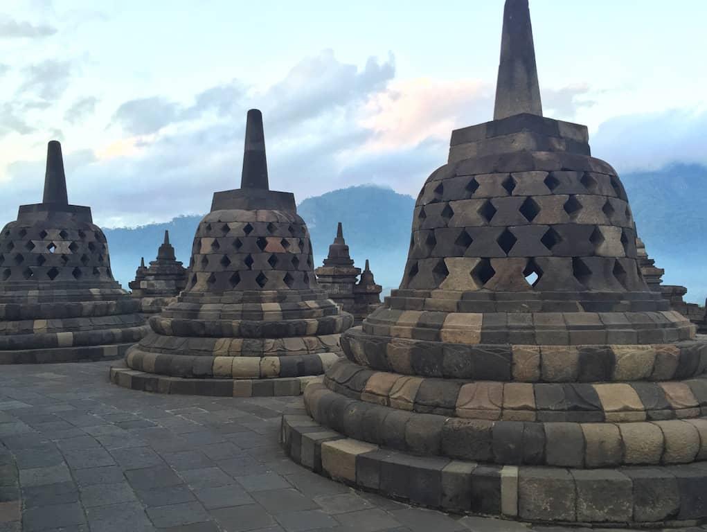 Stupas at Borobudur Temple