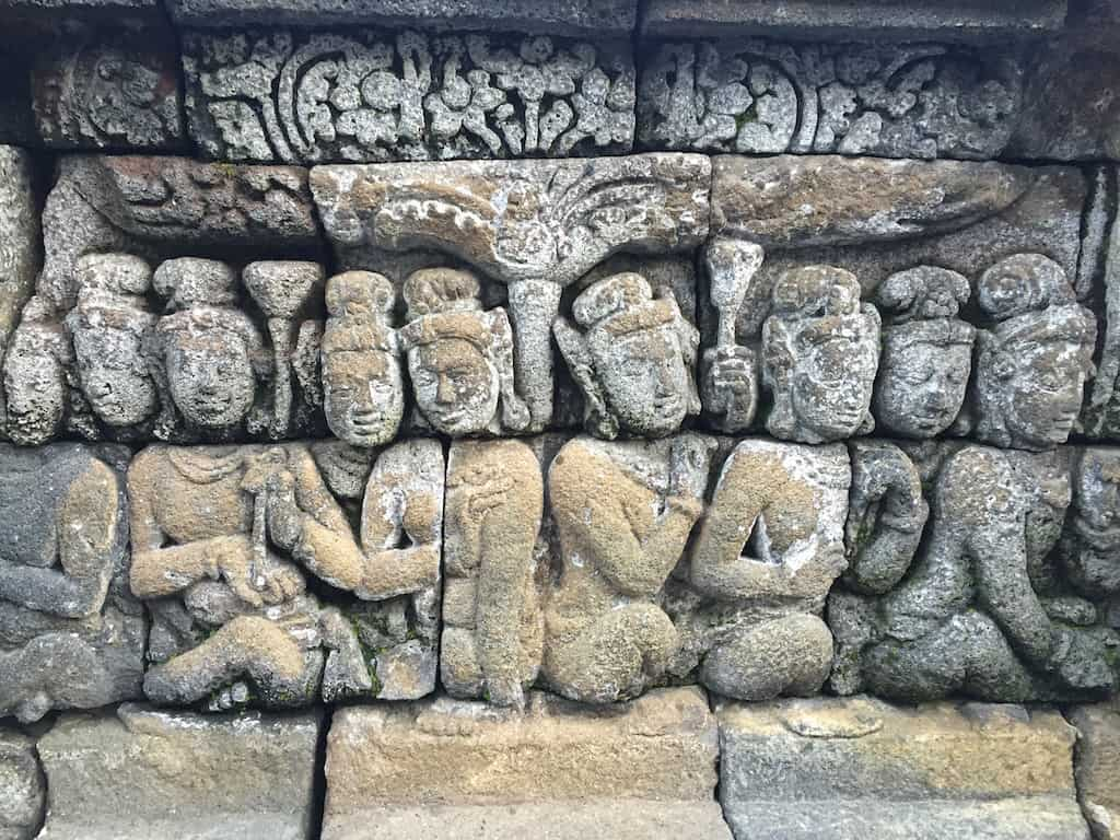 Reliefs on Borobudur Temple