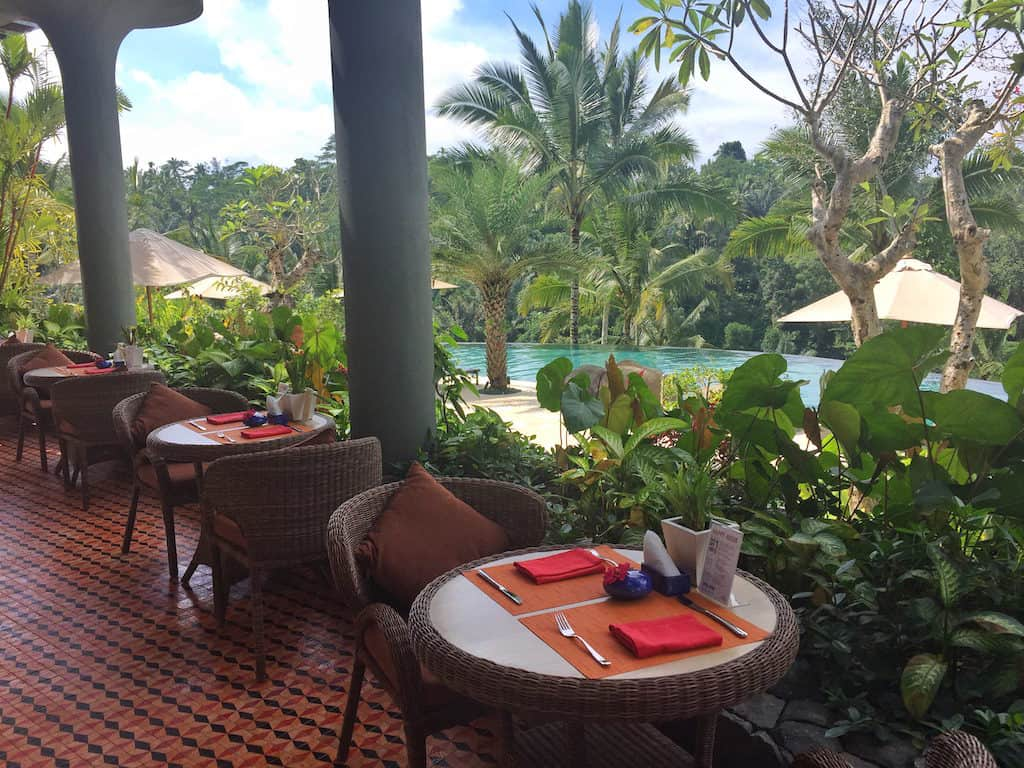 Padma ubud resort pool bar
