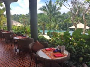 Padma ubud resort pool bar