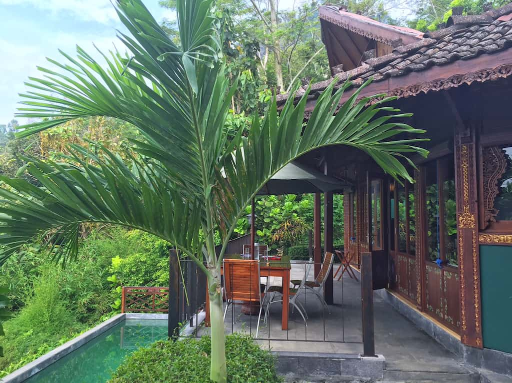 Villa Borobudur terrace
