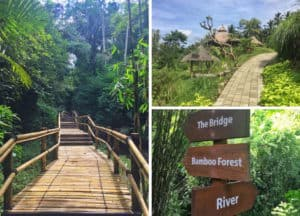 Padma ubud resort jogging track