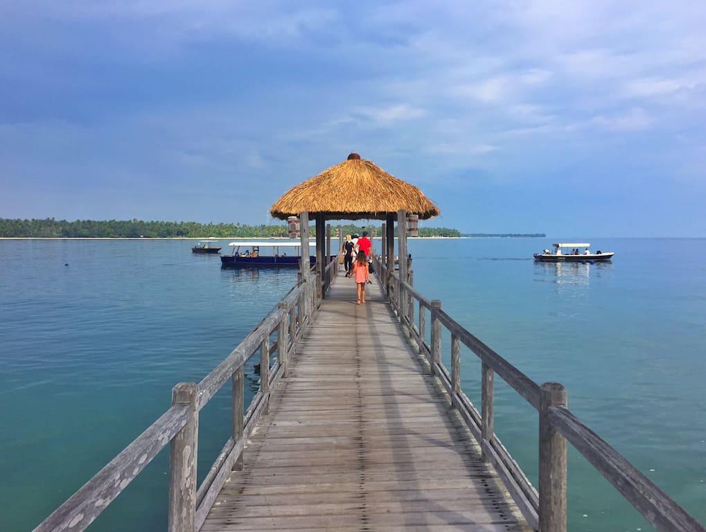 Oberoi Lombok pier
