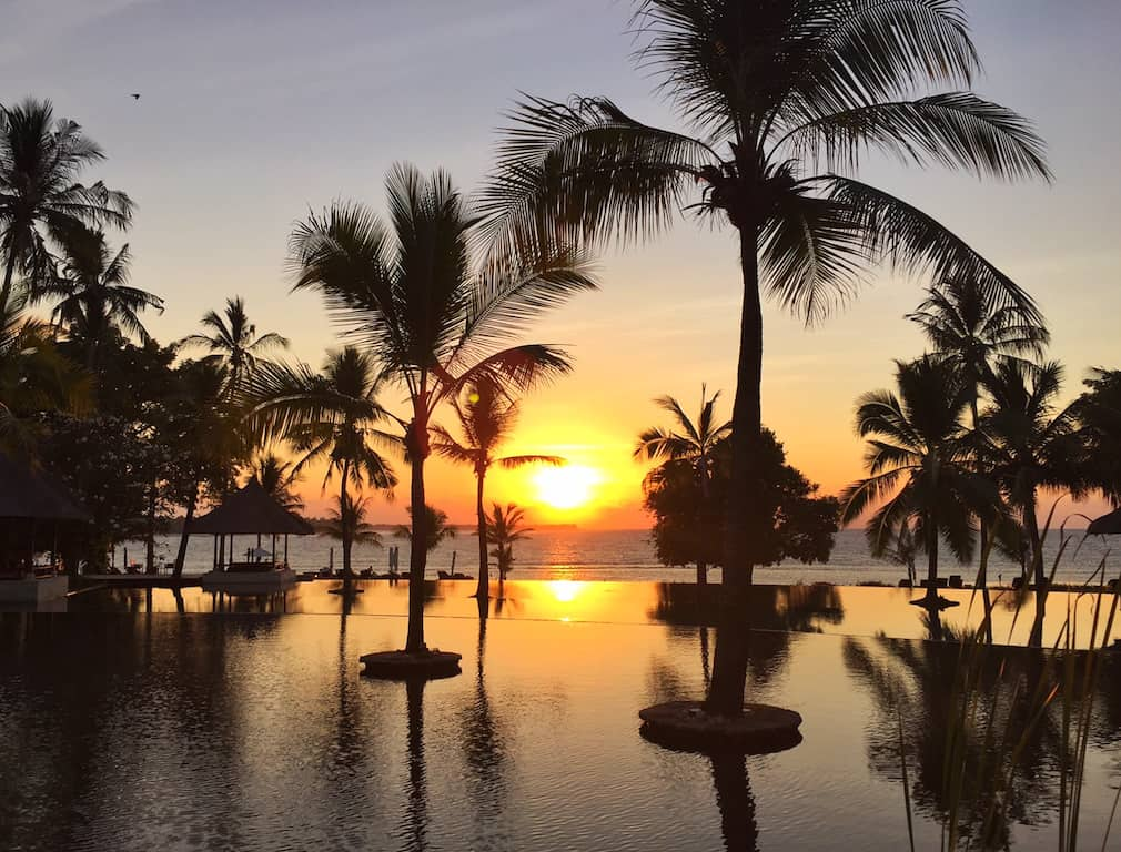 Oberoi Lombok sunset