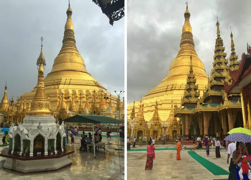 Stupa at Shwedagon Pagoda
