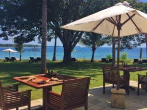 Oberoi Lombok sunbird cafe