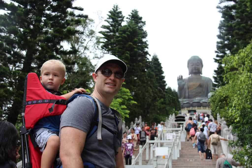 The Big Buddha Hong Kong with kids