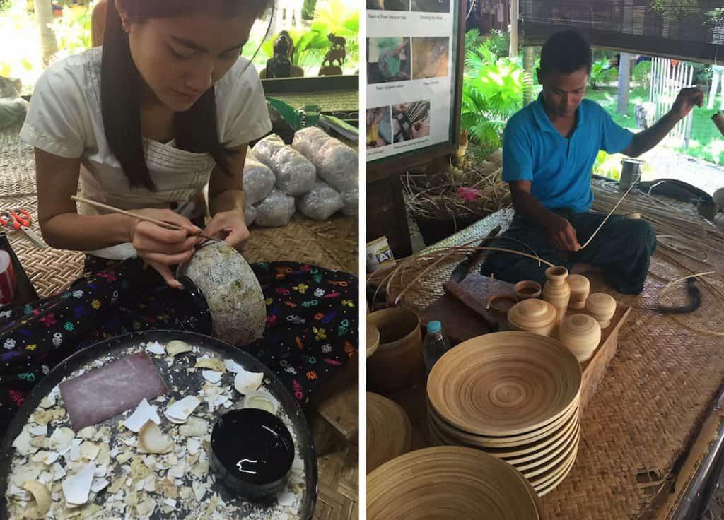 Bagan lacquerware workshop