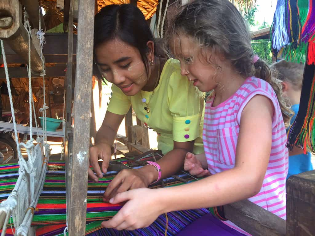 Bagan village weaving