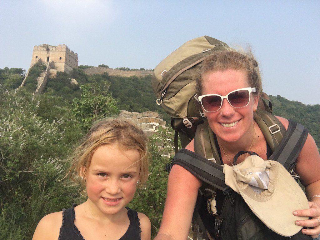 Camping at Great Wall of China