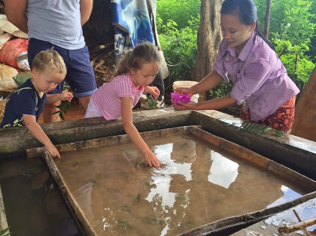 Shan paper making Inle Lake