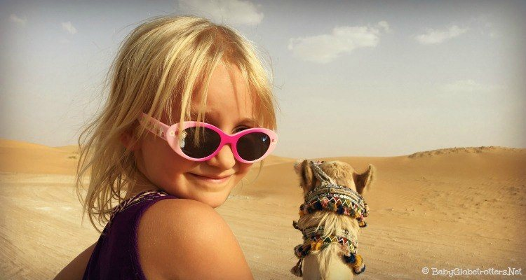 Visiting the Dubai desert with kids