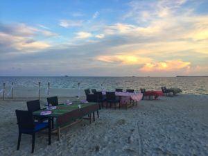 Pulau joy beach dining