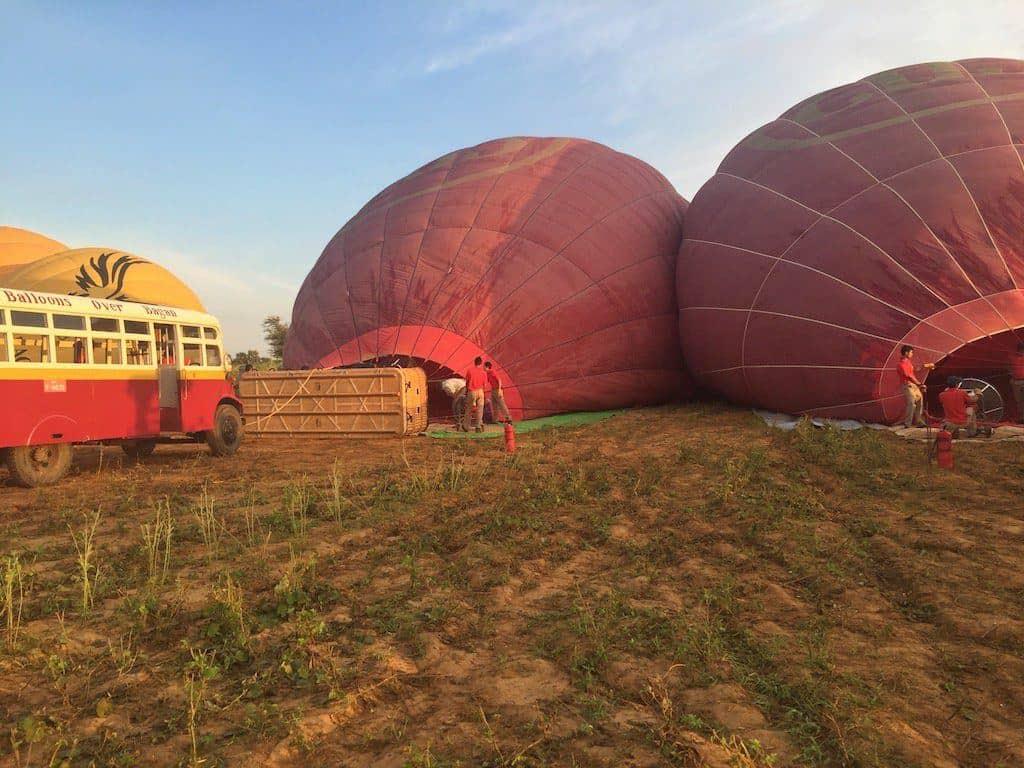 Ballooning Bagan balloons