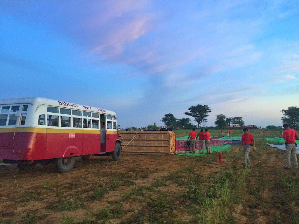 Ballooning Bagan field team