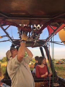 Ballooning over Bagan pilot