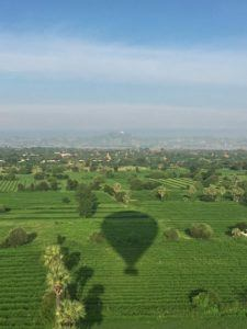 Ballooning Bagan shadow