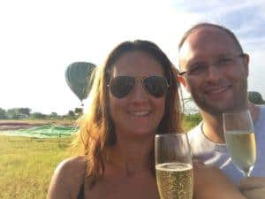 Balloons over bagan champagne