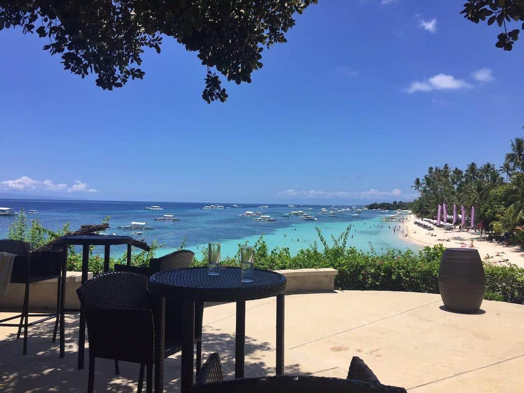 Amorita Resort Bohol cliff deck