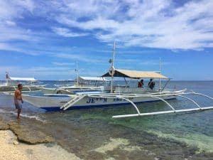 Island hopping tour bohol traditional boat
