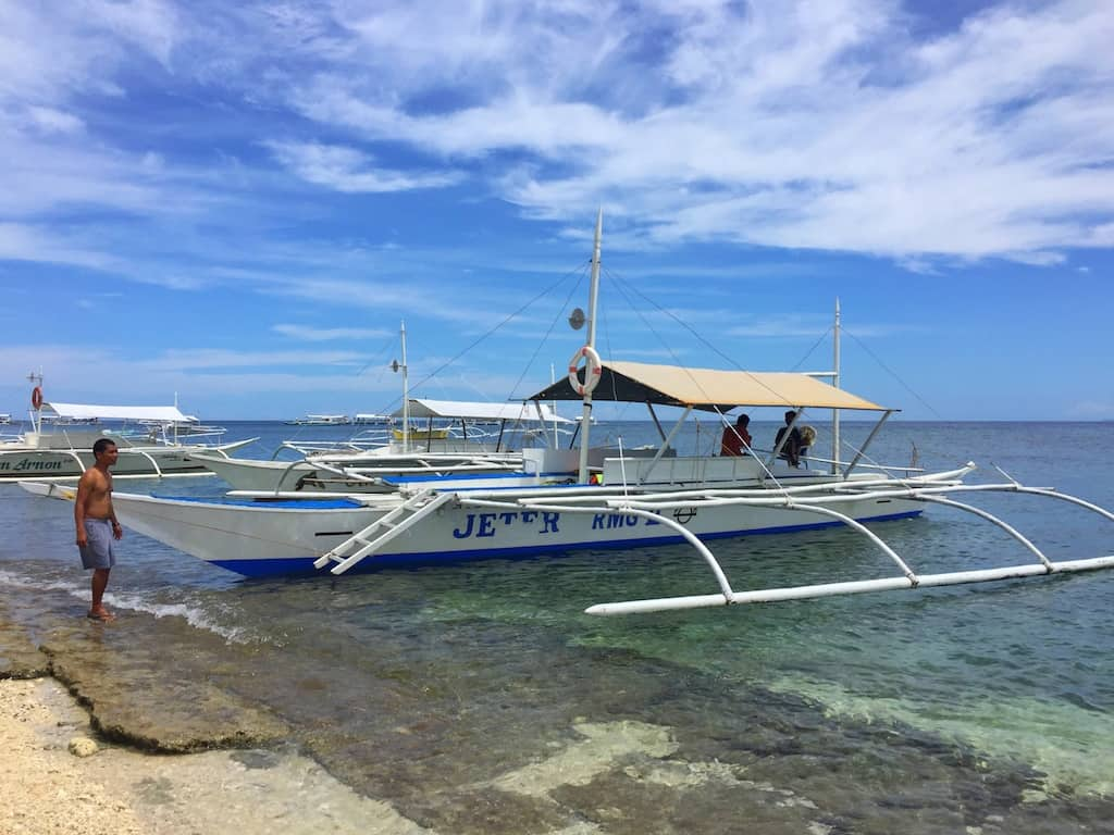Island hopping tour bohol traditional boat