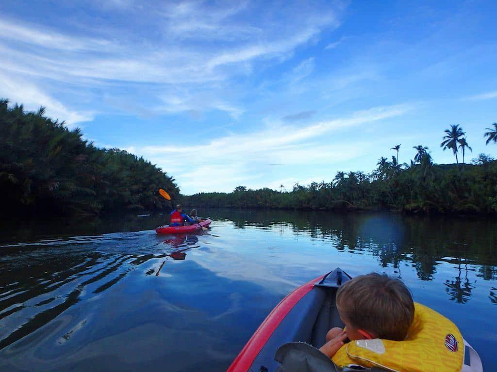Kayaking on Abatan River