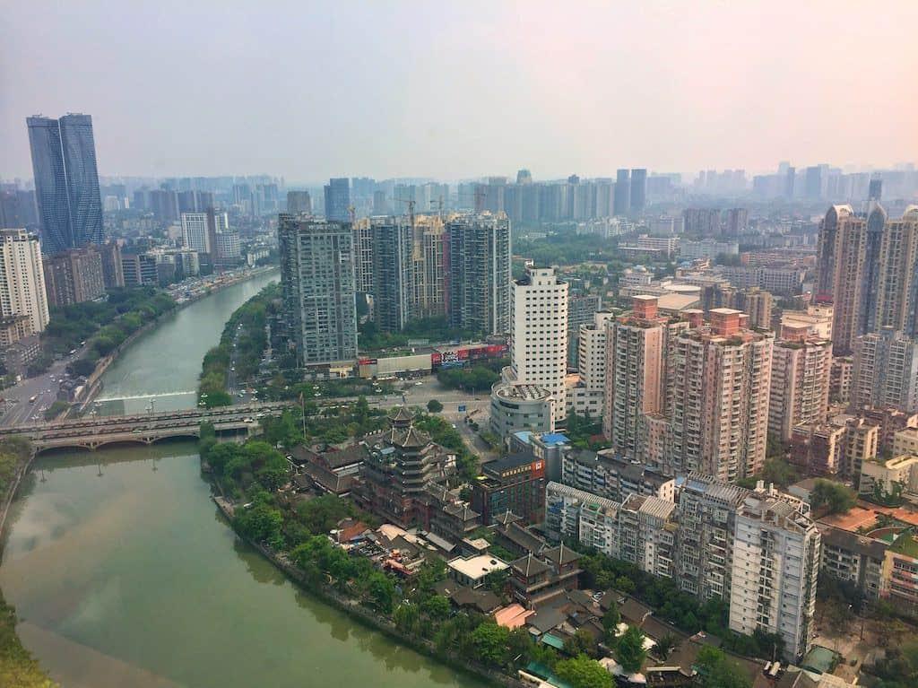 Shangri-La hotel Chengdu river view