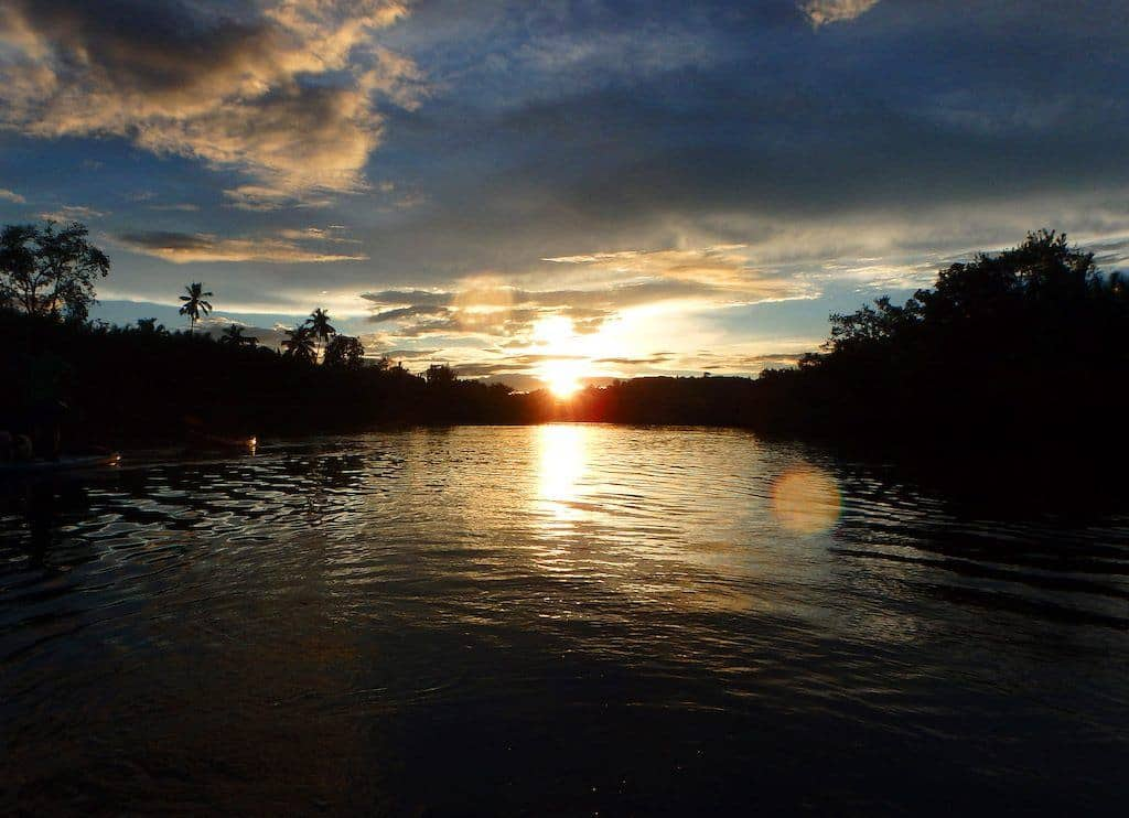 Sunset kayaking in Bohol