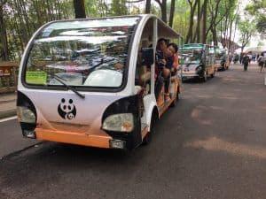 Chengdu panda base shuttle bus
