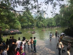 Renmin Park Chengdu with kids