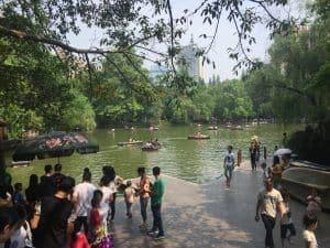 Renmin Park Chengdu with kids