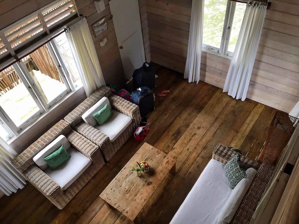 Telunas water villa living room
