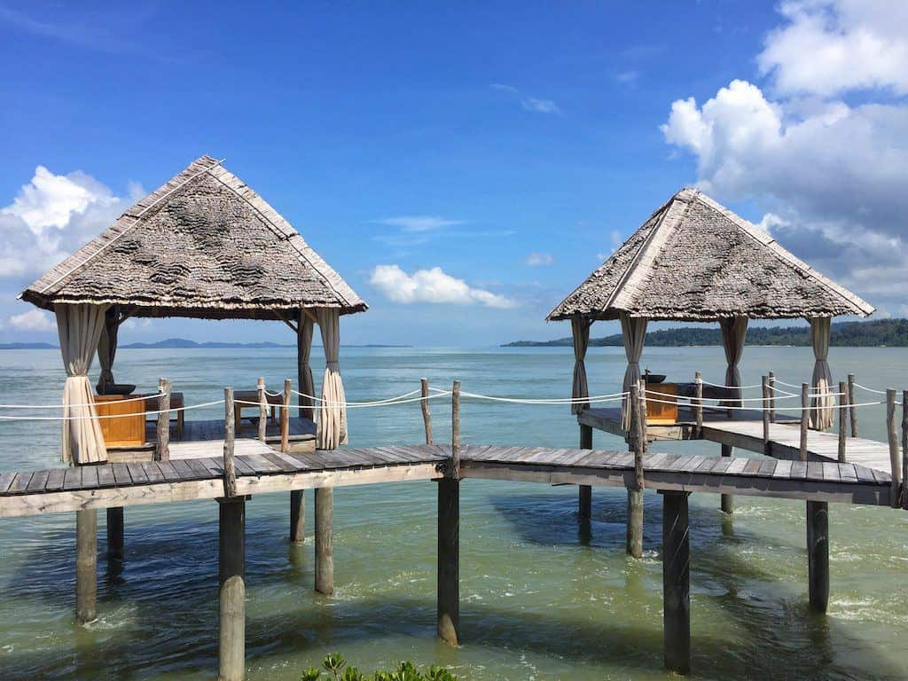 Telunas private island spa