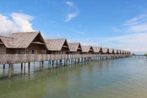 Telunas private island water villas