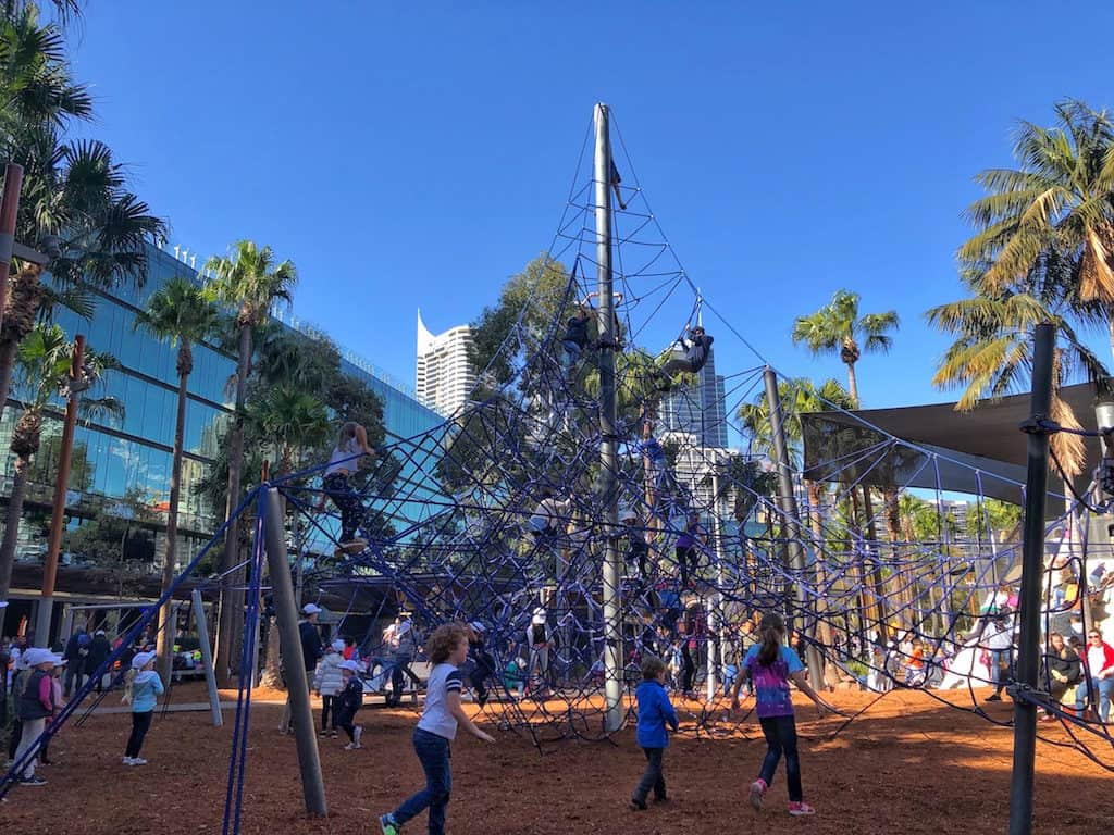 Darling Harbour playground Sydney